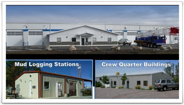 Mud logging stations and crew quarters